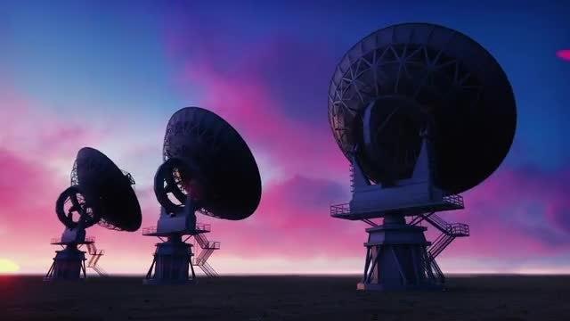 Large Array Radio Telescope Pack: Stock Motion Graphics