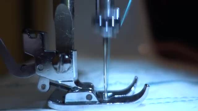 Sewing Machine Close Up: Stock Video