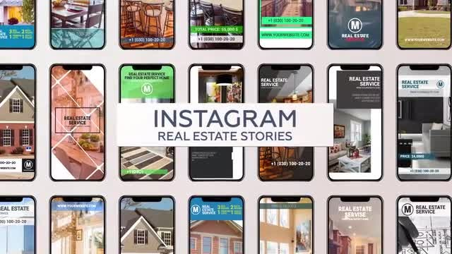 Instagram Real Estate Stories: After Effects Templates