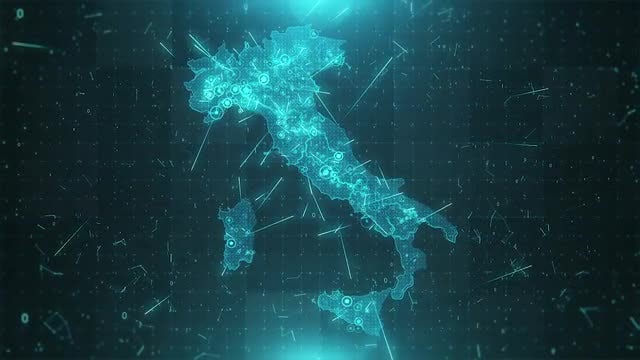 Italy Map Background: Stock Motion Graphics
