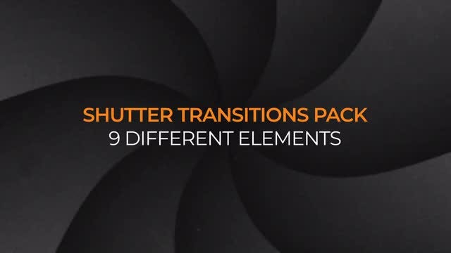 Camera Shutter Transitions Pack: Stock Motion Graphics