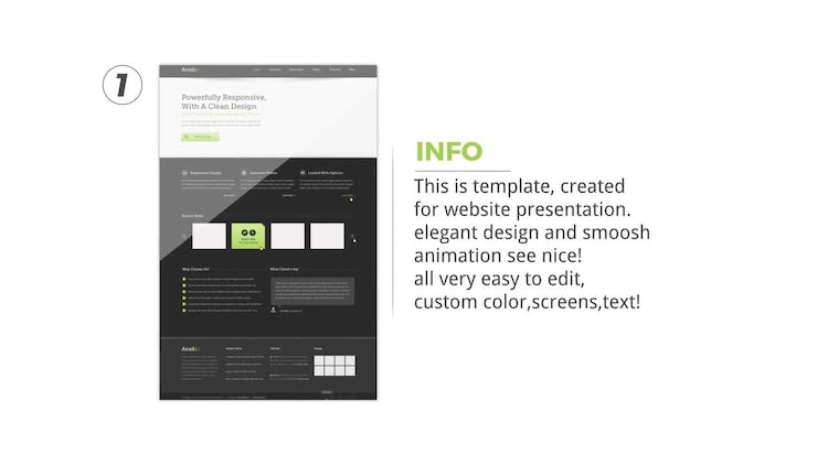 Clean Website Presentation: After Effects Templates