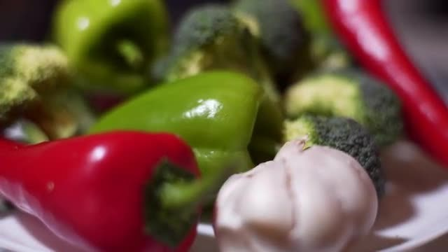 Vegetables Close Shot: Stock Video