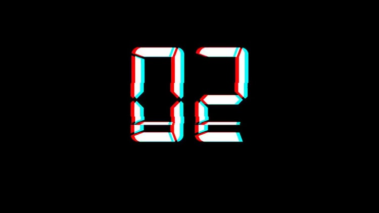 Glitch Count Down: Motion Graphics