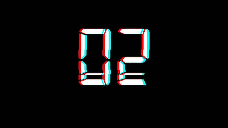 Glitch Count Down: Stock Motion Graphics