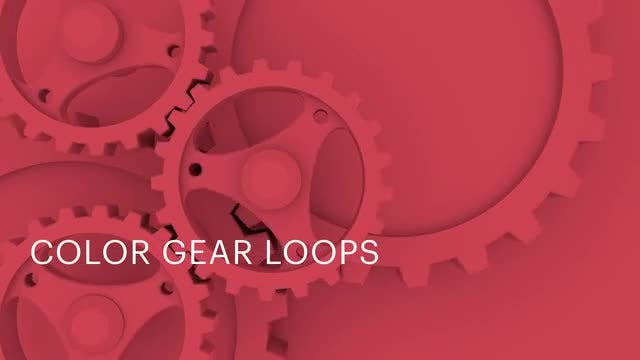 Color Gear Loops: Stock Motion Graphics