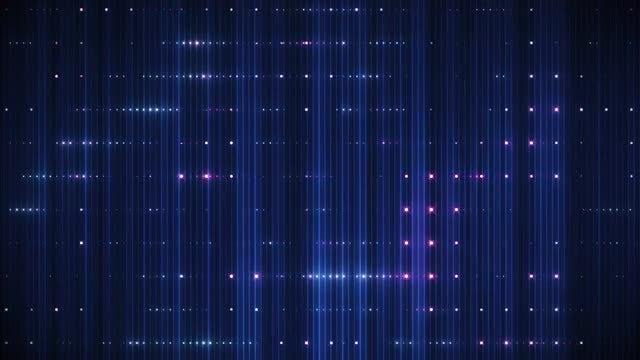 VJ Red-Blue High Tech Screen: Stock Motion Graphics