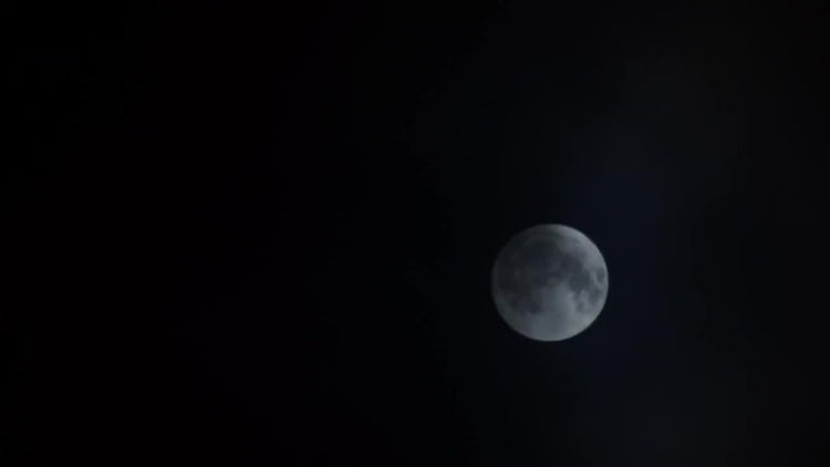 Full Moon Clouds Time Lapse: Stock Video