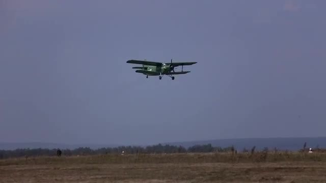 Biplane Aircraft Takes Off: Stock Video