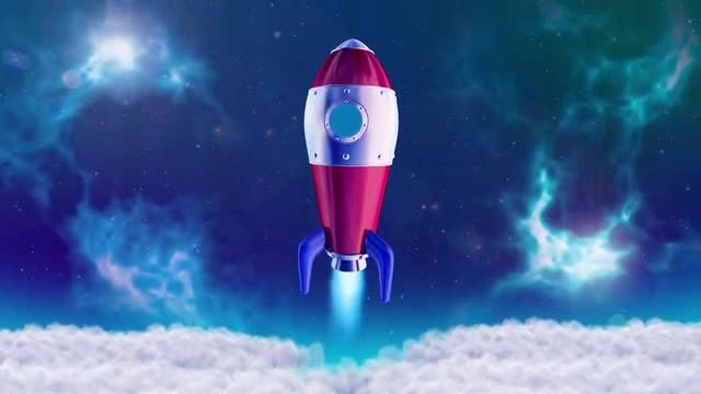 3D Rocket Space Opener: Motion Graphics Templates