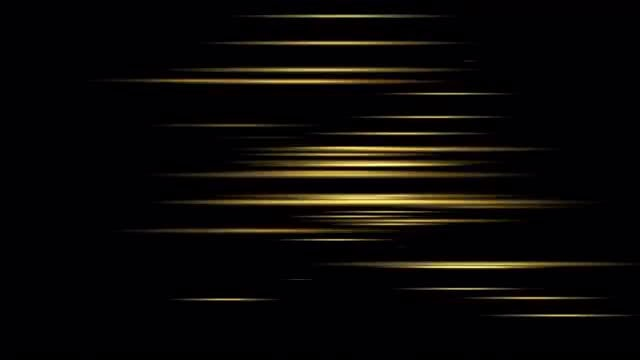 Gold Lines 4K Background: Stock Motion Graphics