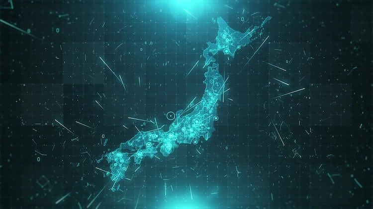 Japan Map Background: Stock Motion Graphics