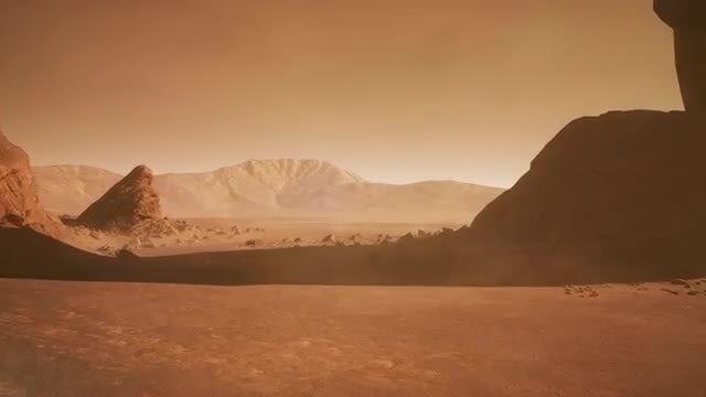 Cruising Through Martian Surface: Stock Motion Graphics