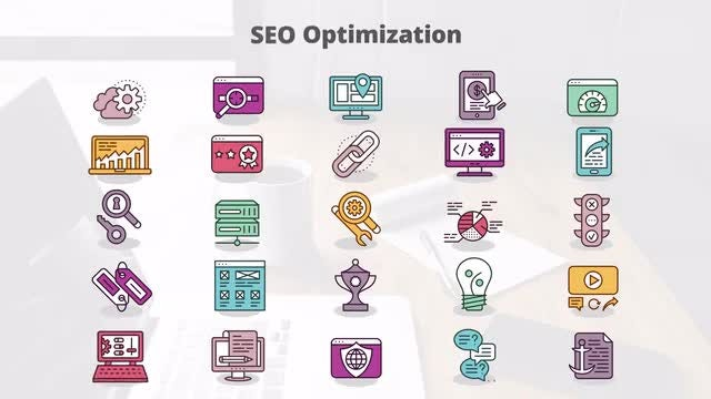 SEO Optimization - MOGRT Icons: Motion Graphics Templates