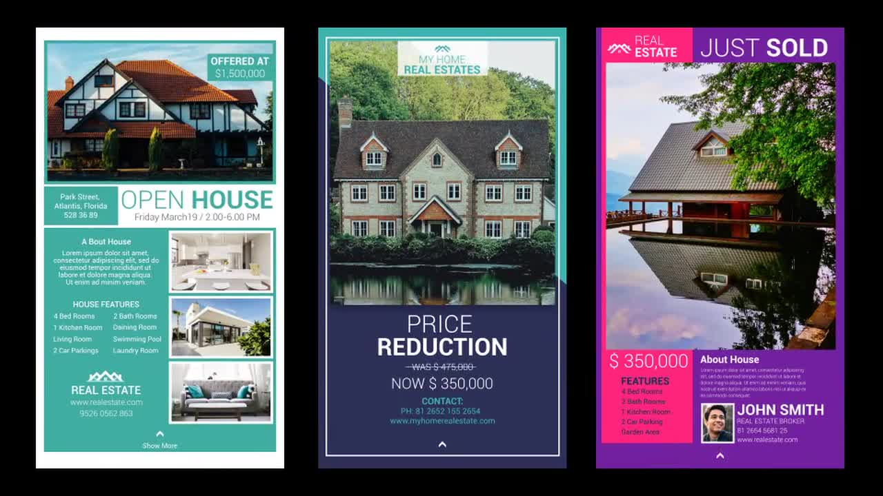 Real Estate Instagram Stories After Effects Templates Motion Array