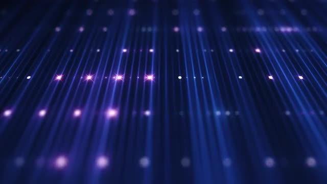 VJ LED Red-Blue Grid: Stock Motion Graphics