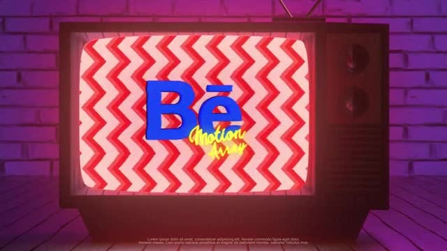 Retro TV Logo: After Effects Templates