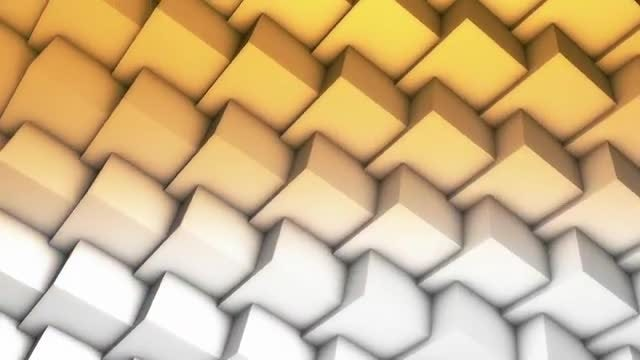 Abstract Wall From Cubes Loop: Stock Motion Graphics