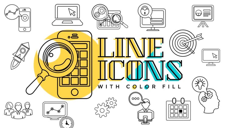 Business & Startup Line Icons: Stock Motion Graphics