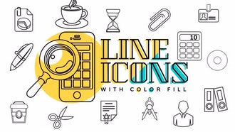 Business & Office Line Icons: Motion Graphics