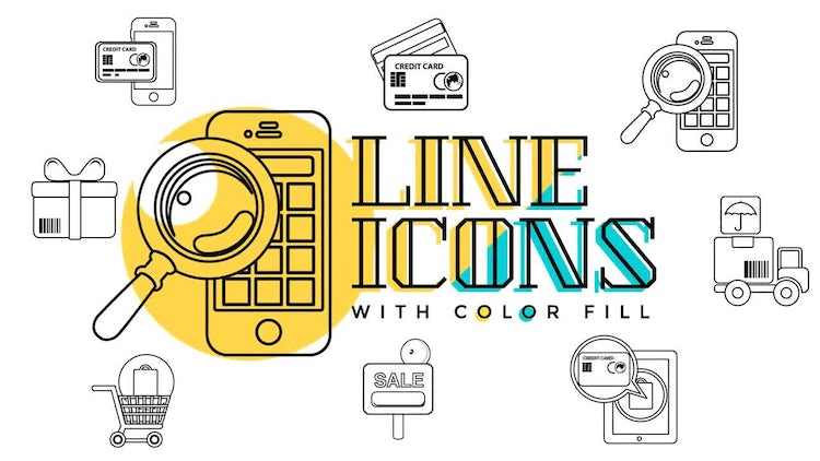 Business & Sales Line Icons: Motion Graphics