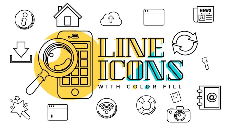 Business & Web Line Icons: Stock Motion Graphics
