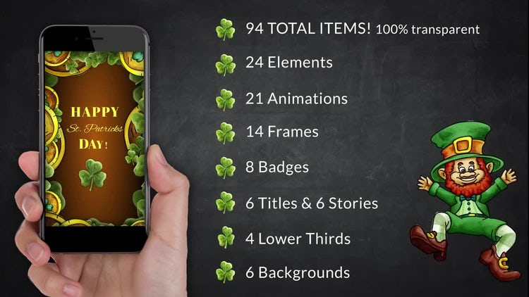 St. Patricks Big Pack: After Effects Templates