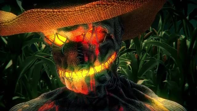 Scarecrow VJ Loop: Stock Motion Graphics