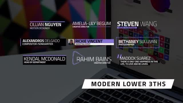 Modern Lower 3rds: After Effects Templates