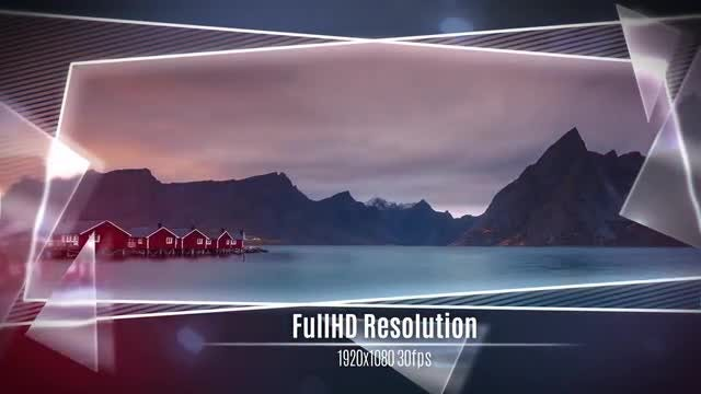 Glass and Frame Slideshow: After Effects Templates