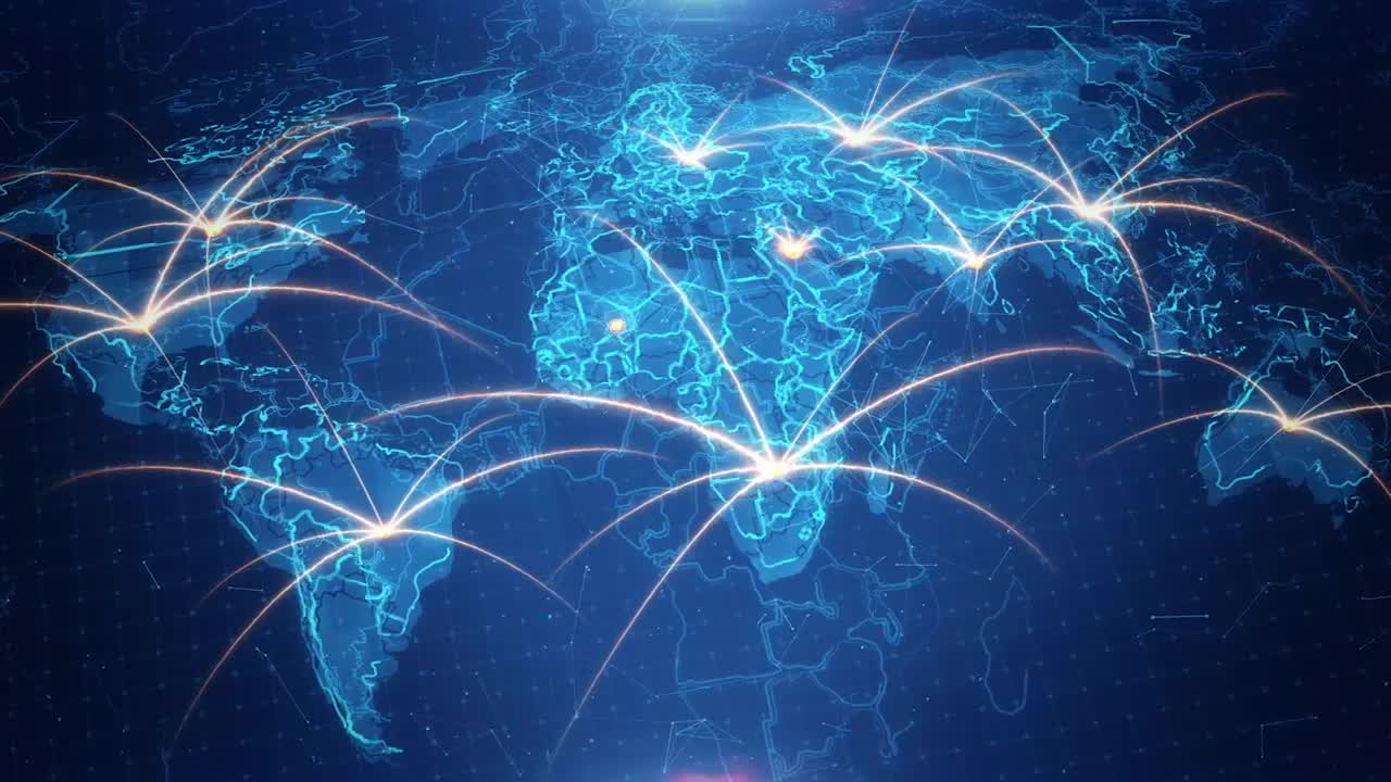 World Map Background Connections 4K Stock Motion Graphics Motion