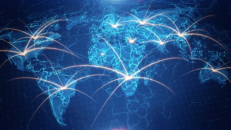 World map background connections 4k stock motion graphics motion world map background connections 4k stock motion graphics gumiabroncs