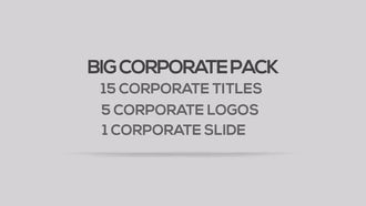 Big Corporate Pack: After Effects Templates