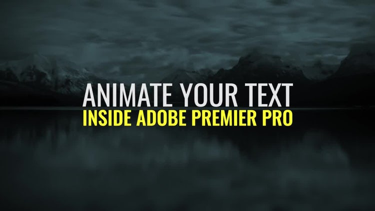 Text Animator: Premiere Pro Templates