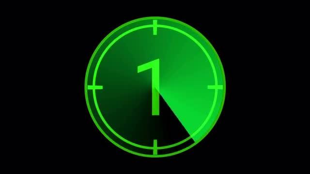 Green Radar Countdown: Stock Motion Graphics
