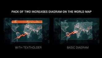 Diagram on the World Map: Motion Graphics