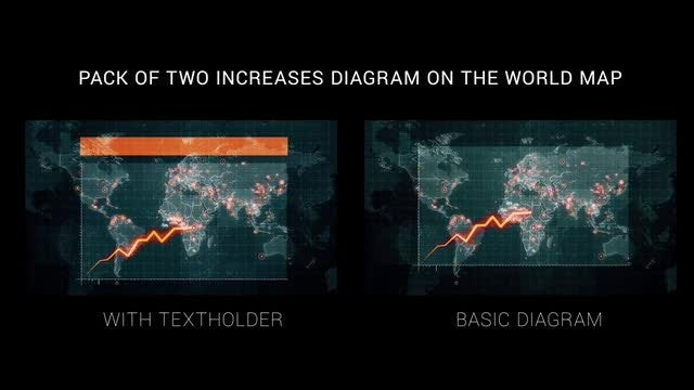 Diagram on the World Map: Stock Motion Graphics