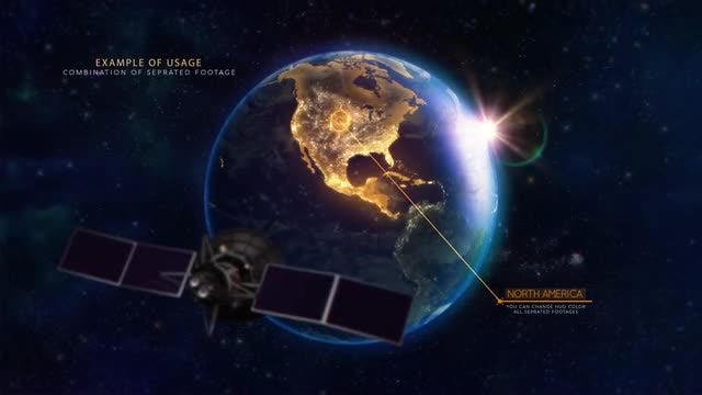 North America Earth Satellite: Stock Motion Graphics