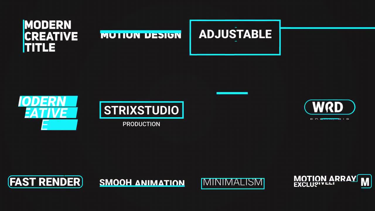 Smooth Minimal Title After Effects Templates Motion Array