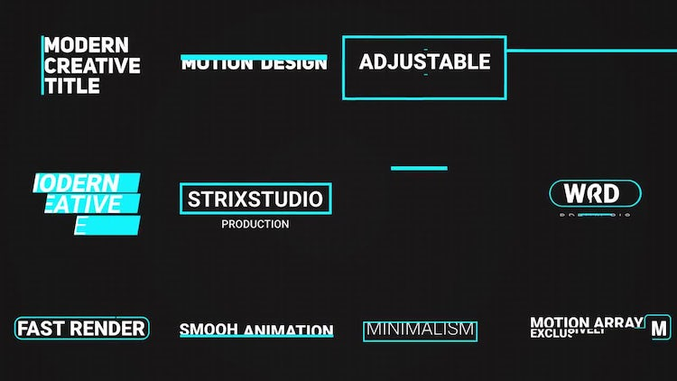 Smooth Minimal Title : After Effects Templates