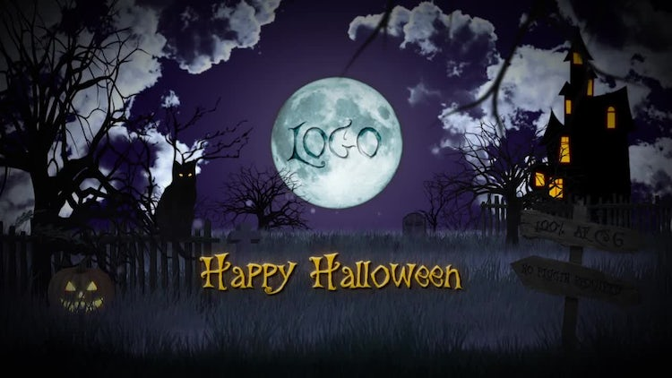 Halloween Logo: After Effects Templates