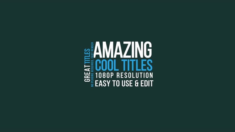 16 Titles: After Effects Templates
