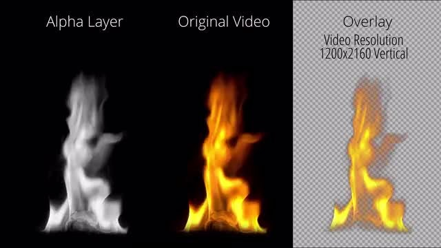 Fire Slowly Dying Out: Stock Motion Graphics