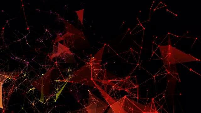 Mass Movement Of Colored Plexus: Stock Motion Graphics
