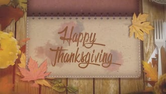 Thanksgiving Opener: Motion Graphics