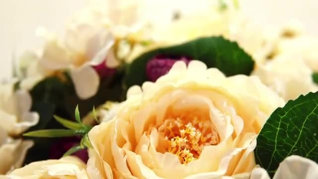 Artificial Flowers: Stock Video