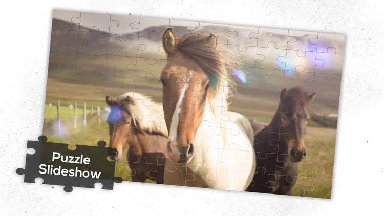 Elegant Puzzle - Slideshow: Premiere Pro Templates