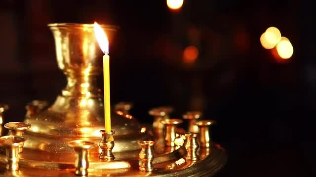 Candle In The Church: Stock Video