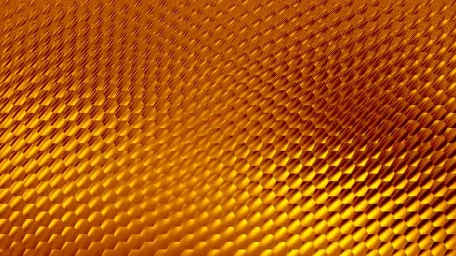 Shiny Golden Hexagons 4K Background: Stock Motion Graphics