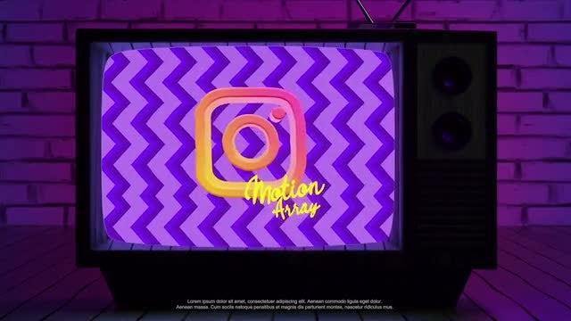 Retro TV Logo: Premiere Pro Templates